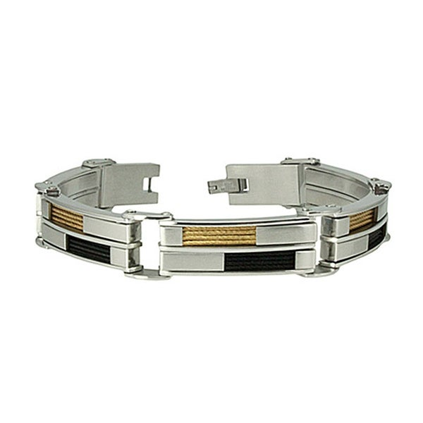 Stainless Steel Check Board Bracelet