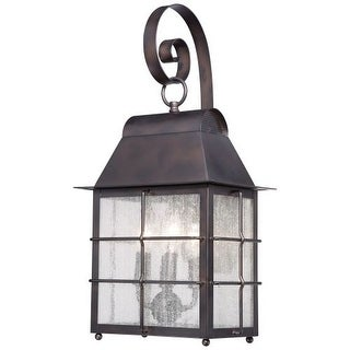 The Great Outdoors 73093-189 4 Light Outdoor Wall Sconce from the Willow Pointe Collection