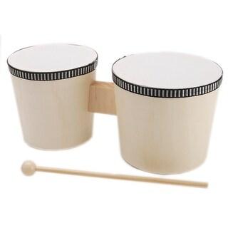 "Wood Instrument-Bongo Drums 4.5""X9"""