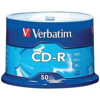 Verbatim 94691 700Mb 80-Minute 52X Cd-Rs (50-Ct Spindle)