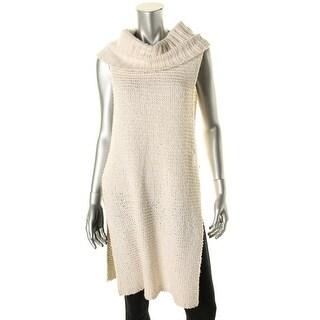 Free People Womens Knit Side Slits Tunic Sweater - M