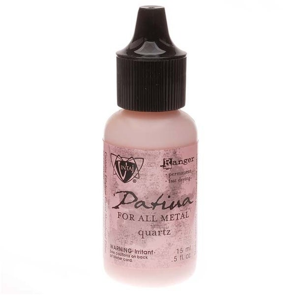 Vintaj Patina Opaque Permanent Ink - Pink Quartz - 0.5 Ounce Bottle