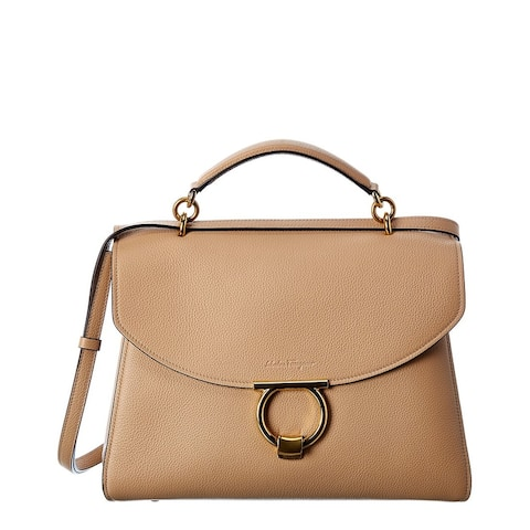 Salvatore Ferragamo Gancini Leather Satchel