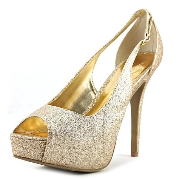 Material Girl Havic Gold Glitz Sandals