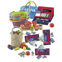 Childcraft Market and Grocery Shopping Roleplay Package, 106 Pieces
