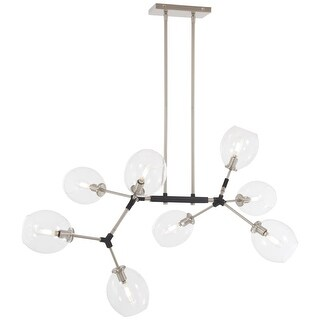 "Kovacs P1368-619 Nexpo 8 Light 41"" Wide Abstract Chandelier with Glass Shades"