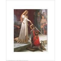 ''The Accolade'' by Edmund Blair Leighton Museum Art Print (20 x 16 in.)