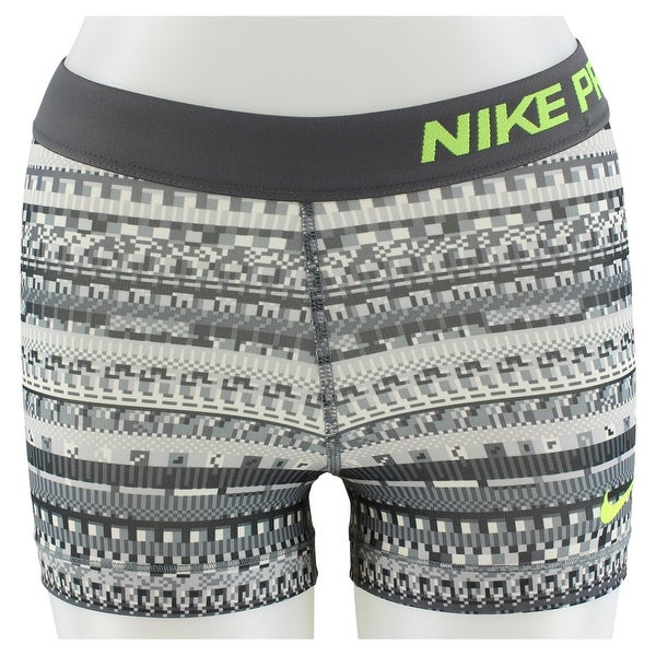 9caacde02300d Nike Womens Pro 3 Compression Printed 8 Bit Shorts Grey - Grey/Tan