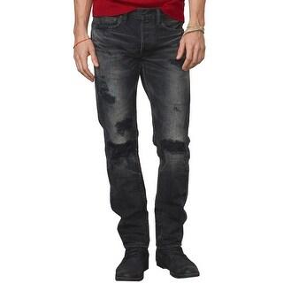 Denim and Supply Ralph Lauren Slim Fit Distressed Jeans Dark Grey 34 x 34