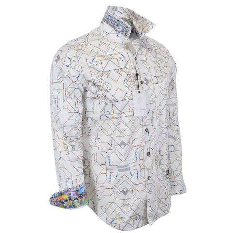 Robert Graham SHORT CIRCUIT Embroidered Robot Sport Shirt 2XL