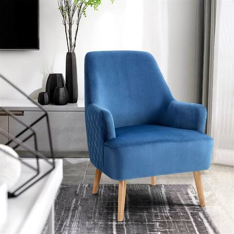 Furniture R Velevt Upholstered Accent Armchair