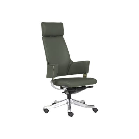 Rye Studio High-Profile Modern Leather Office Chair