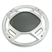 """Unique Bargains Unique Bargains Silver Tone Plastic 10.6"""" Dia Round Meshy Horn Cover Hood for Auto Vehicle"""