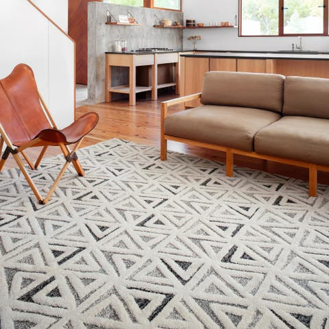 Alexander Home Vail Modern & Contemporary Triangle Area Rug