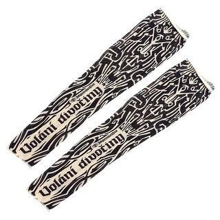 1 Pair Summer Stretchy Unisex UV Sun Protection Tattoo Arm Sleeves Black Beige