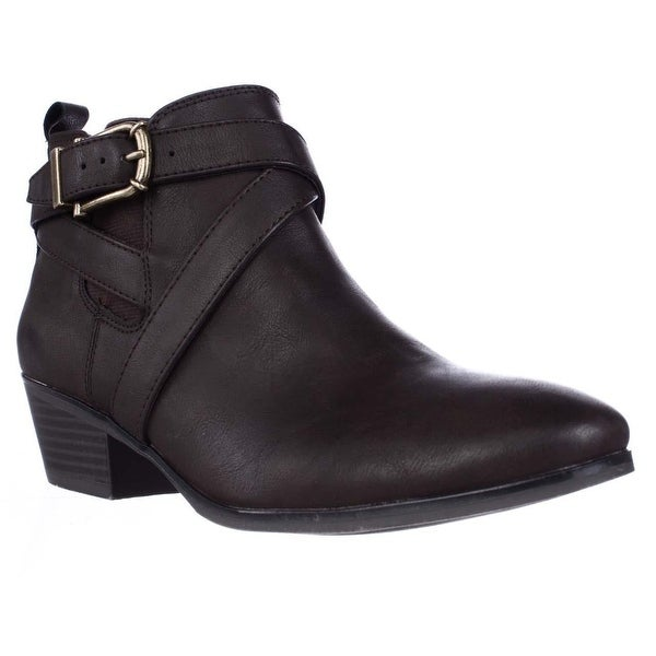 SC35 Harperr Casual Ankle Booties, Chocolate