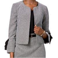 Nine West Gray Women's Bell Sleeve Flap Tie Jacket
