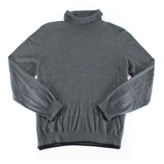 INC NEW Solid Charcoal Gray Mens Size XL Pullover Turtleneck Sweater