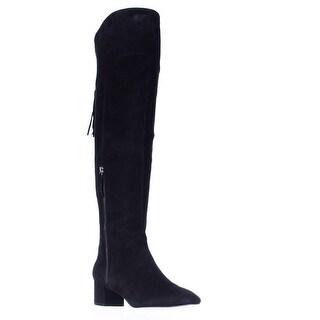 Nine West Anilla Over-The-Knee Tassel Zip Boots - Black