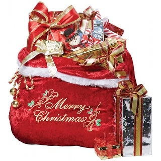 Embroidered Santa Bag Adult Costume Accessory