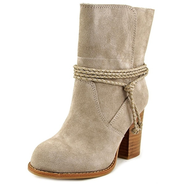 Splendid Larchmonte Women Round Toe Suede Tan Ankle Boot