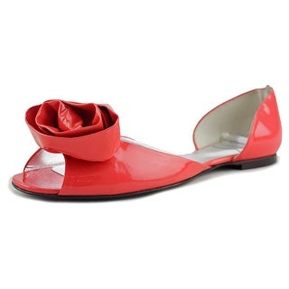 Tod's Flora T.05 Women Peep-Toe Leather Pink Flats