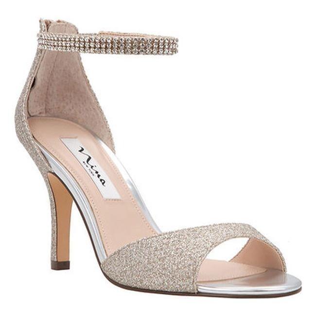 f88873fd4 Shop Nina Women's Vierra Ankle Strap Sandal Soft Platino Diamond Glitter  Mesh - Free Shipping Today - Overstock - 15291114