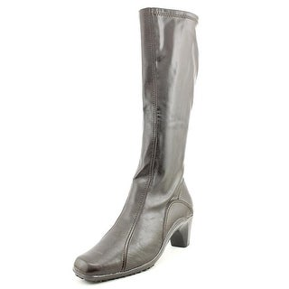 Aerosoles Lasticity Women W Square Toe Synthetic Brown Knee High Boot