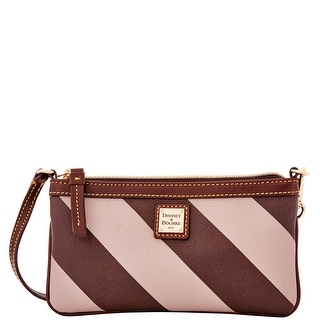 Dooney & Bourke Chevron Large Slim Wristlet (Introduced by Dooney & Bourke at $78 in Oct 2014) - Taupe