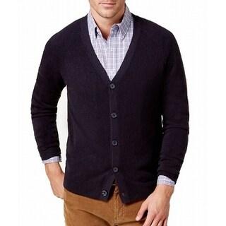 Weatherproof Black Mens Size 2XL Button Down Cardigan Knit Sweater