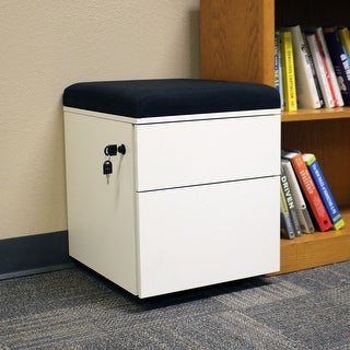 Rolling 2-Drawer Wheeled Storage Cabinet - Black Cushion by CASL Brands