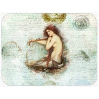 Carolines Treasures SB3047LCB 15 x 12 in. Mermaids and Mermen Glass Cutting Board - Large