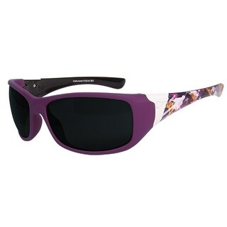 Edge Eyewear YC156-A3 Civetta Aurora Series, Purple Mutli, Smoke Lens