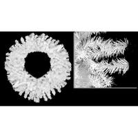 "72"" Huge White Canadian Pine Artificial Christmas Wreath - Unlit"