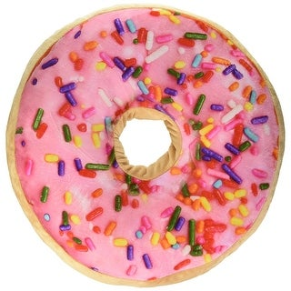 "Scented Sprinkle Donut 16"" Pillow (Strawberry)"