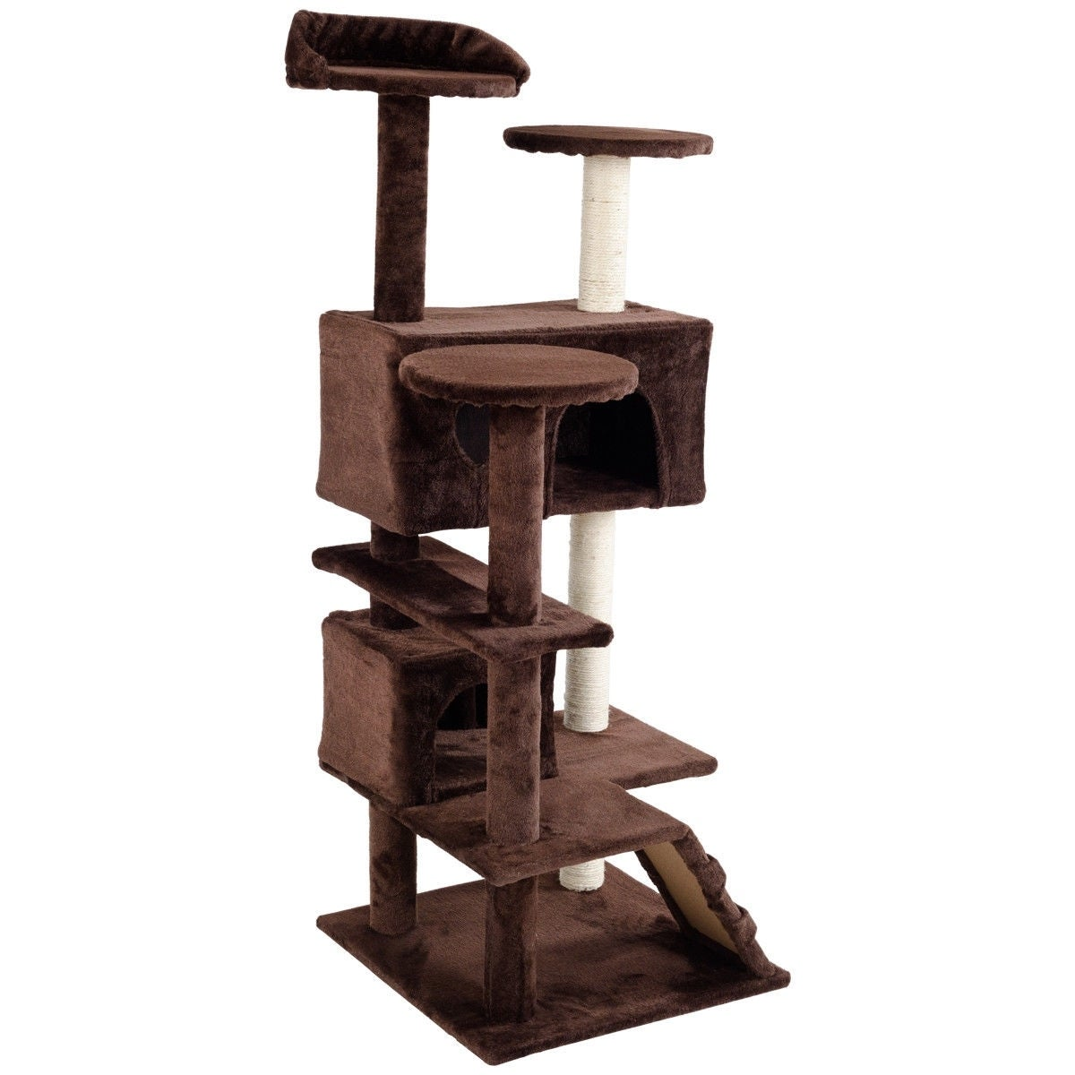 52 Cat Scratching Post and Ladder Kitten Tower Tree -Coffee