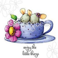 """Maisy & Madeline Have Some Tea - Stamping Bella Cling Rubber Stamp 6.5""""X4.5"""""""