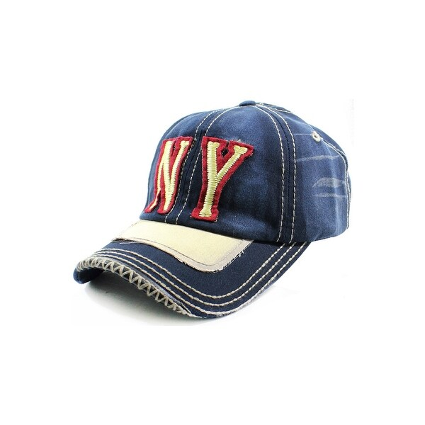 NY Distressed Baseball Cap