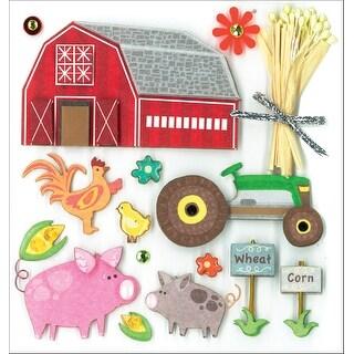 K&Co Dimensional Stickers-Farm Life