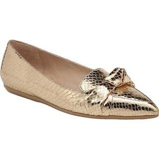 Franco Sarto Women's Adrianni Ballet Flat Gold Shiny Metallic Snake Polyurethane