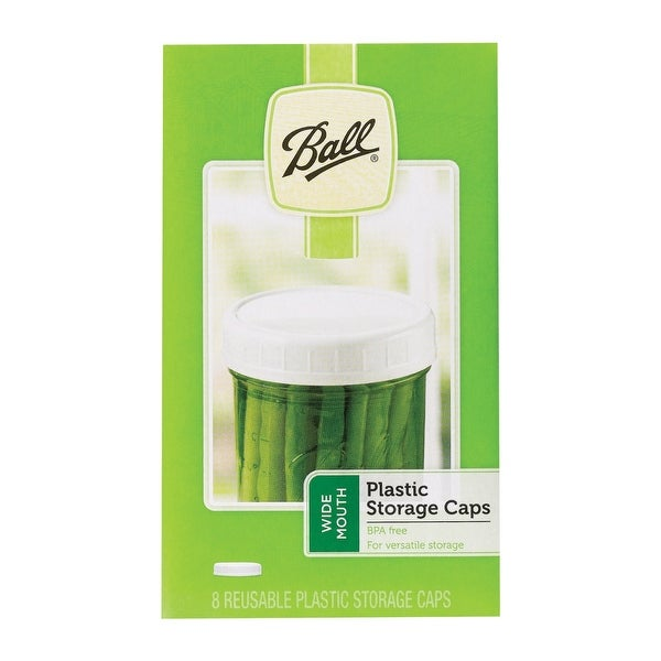 Ball 1440037010 Wide Mouth Jar Storage Caps, Plastic