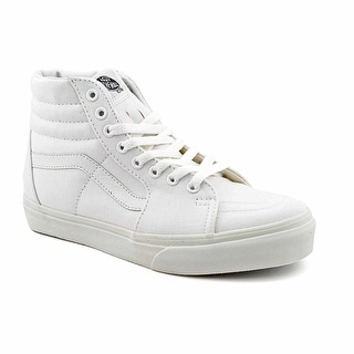 Vans Sk8 Hi Lite Youth Round Toe Canvas White Skate Shoe