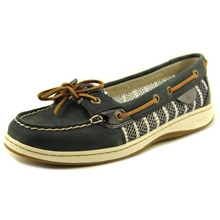 Sperry Top Sider Angelfish Women Moc Toe Leather Blue Boat Shoe