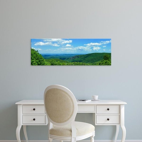 Easy Art Prints Panoramic Images's 'Blue Ridge Mountain view, Great Smoky Mountains National Park, NC' Canvas Art