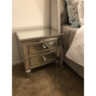 Shop Abbyson Omni Mirrored 2 Drawer Chest On Sale Free Shipping Today Overstock