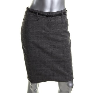 Calvin Klein Womens Twill Lined Pencil Skirt - 0