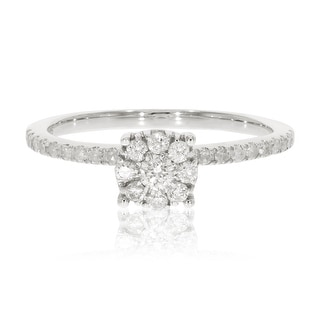 0.38 Ctw Classic Round Briliant Cut Natural Diamond Engagement Ring