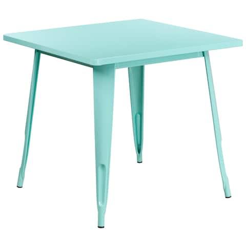 31.5'' Square Metal Indoor-Outdoor Table