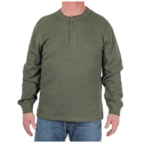 97bd323721 Cotton Apparel Men s Thermal Knit Henley Shirt