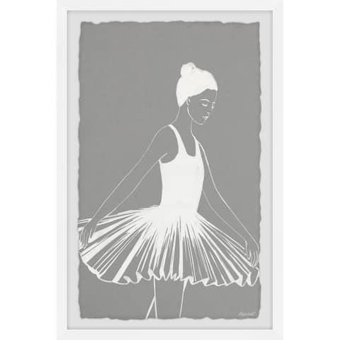 'Pleated Ballerina Dress' Framed Painting Print
